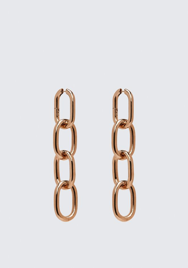 ALEXANDER WANG FOUR-LINK CHAIN EARRINGS IN ROSE GOLD Accessories Adult 12_n_d