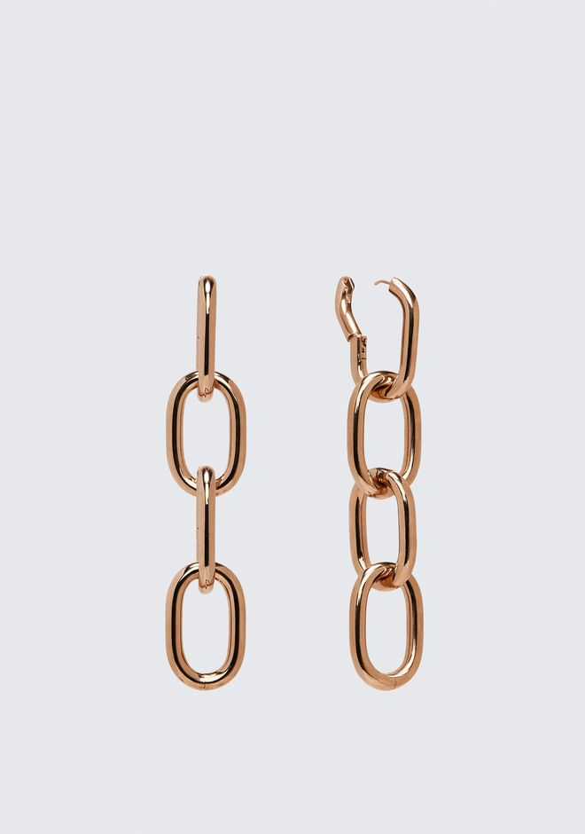 ALEXANDER WANG FOUR-LINK CHAIN EARRINGS IN ROSE GOLD Accessories Adult 12_n_e
