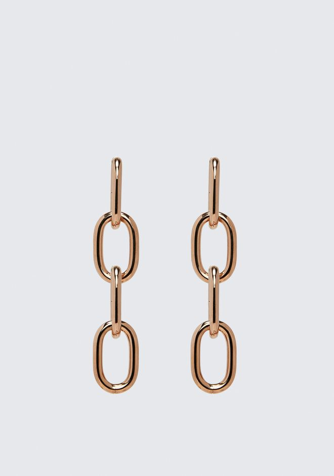ALEXANDER WANG FOUR-LINK CHAIN EARRINGS IN ROSE GOLD Accessories Adult 12_n_f