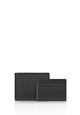 BI-FOLD WALLET IN RUBBERIZED BLACK