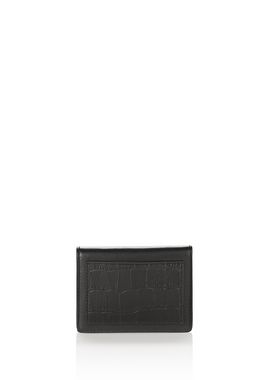 E-W CROC EMBOSSED CARDHOLDER IN BLACK