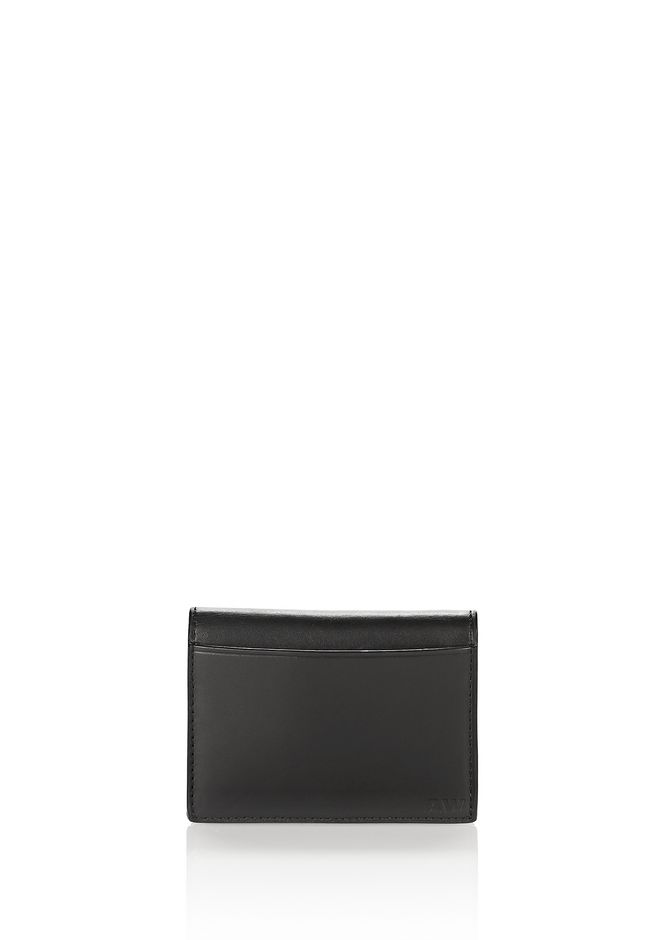 ALEXANDER WANG E-W CROC EMBOSSED CARDHOLDER IN BLACK  SMALL LEATHER GOOD Adult 12_n_d