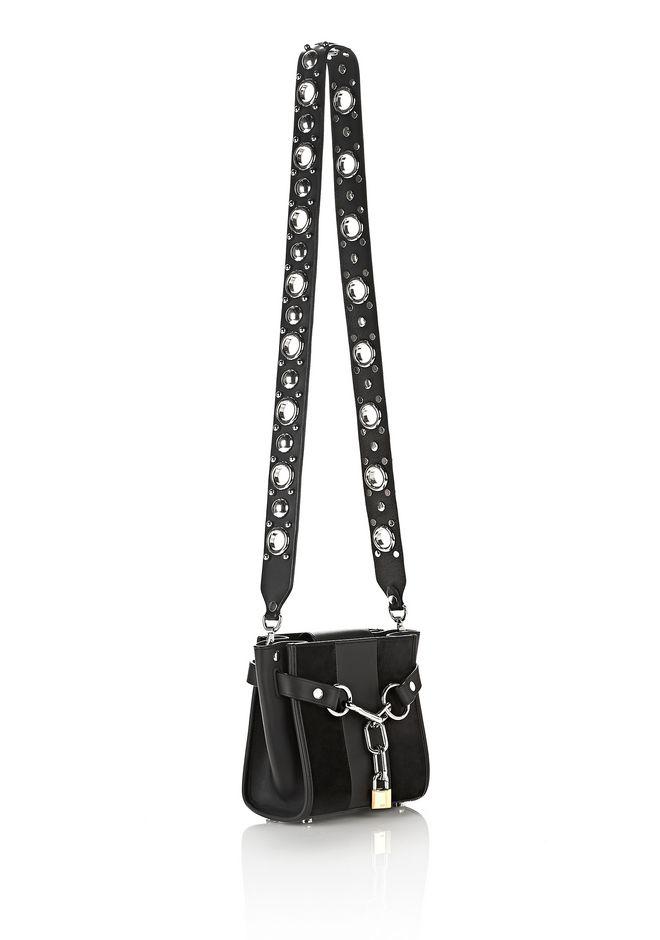 Alexander Attica Stud Embellished Bag Strap With Rhodium Belts Straps 12 N D