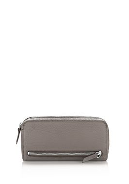 FUMO CONTINENTAL WALLET IN MATTE MINK WITH RHODIUM