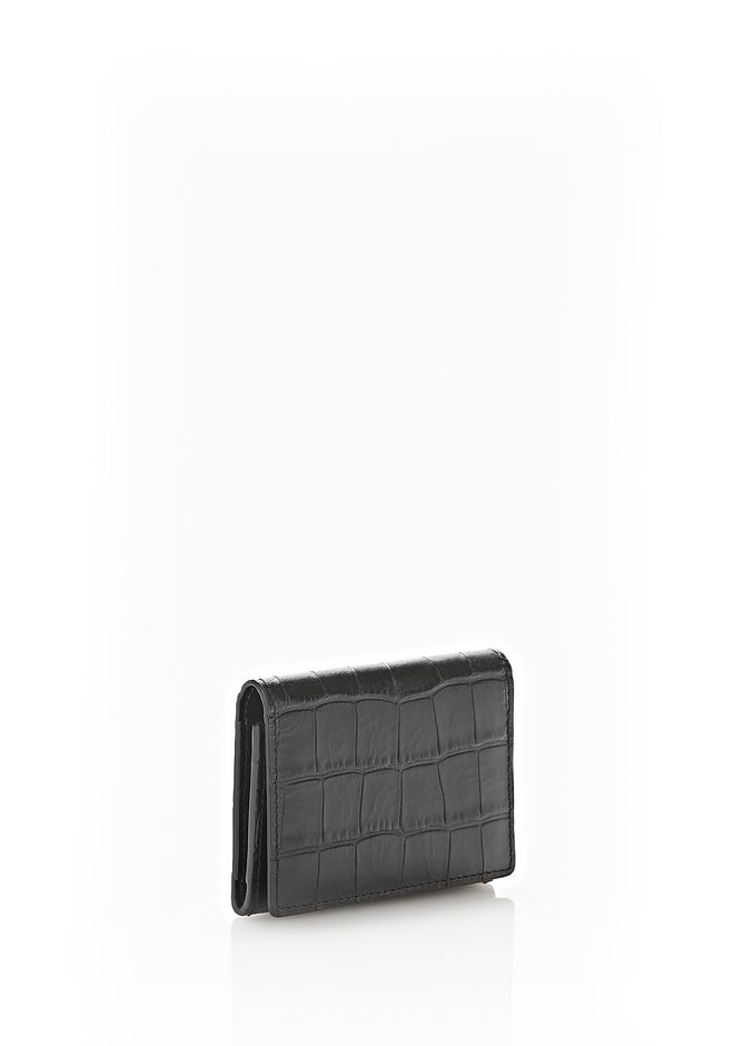 Alexander Wang CROC EMBOSSED FLAP CARDHOLDER SMALL LEATHER ...