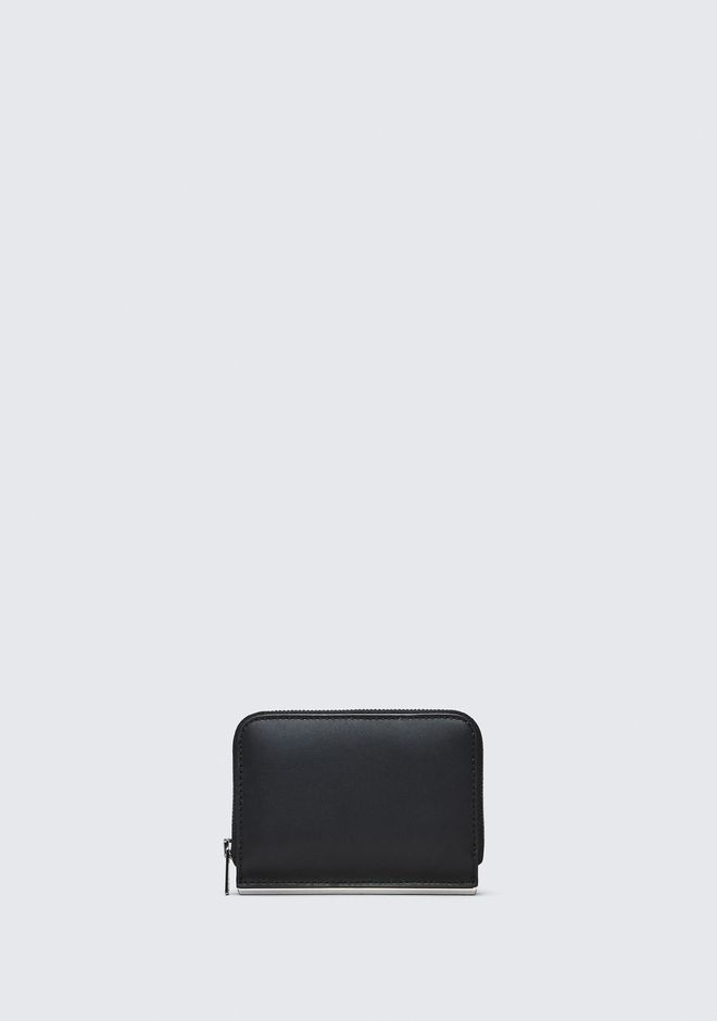 ALEXANDER WANG accessories DIME MINI COMPACT WALLET BAR IN BLACK