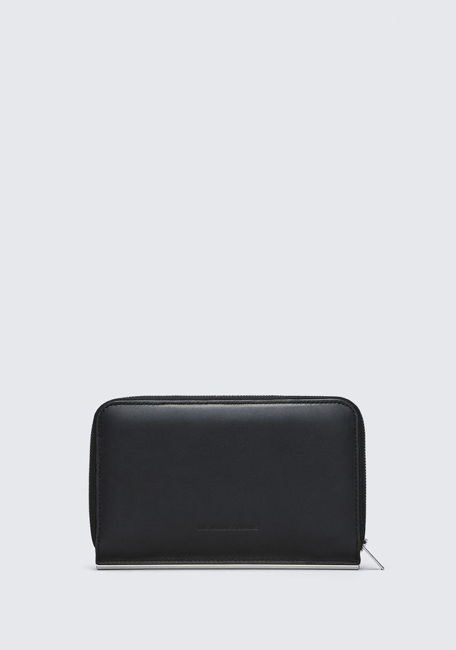 ALEXANDER WANG DIME CONTINENTAL WALLET IN BLACK PICCOLA PELLETTERIA Adult 12_n_a