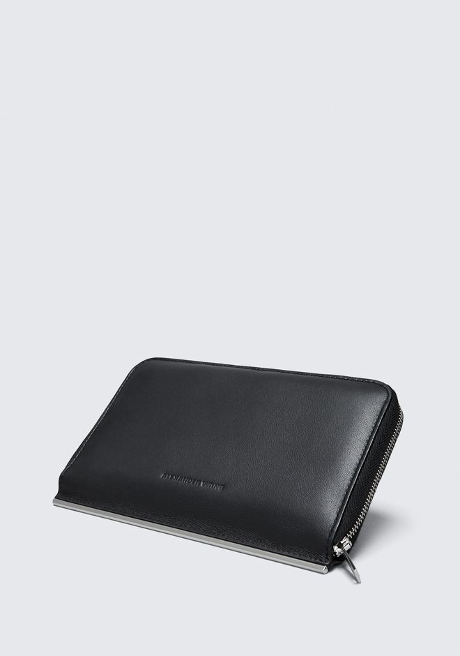 ALEXANDER WANG DIME CONTINENTAL WALLET IN BLACK SMALL LEATHER GOOD Adult 12_n_e