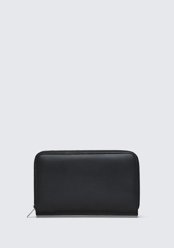 ALEXANDER WANG DIME CONTINENTAL WALLET IN BLACK SMALL LEATHER GOOD Adult 12_n_f