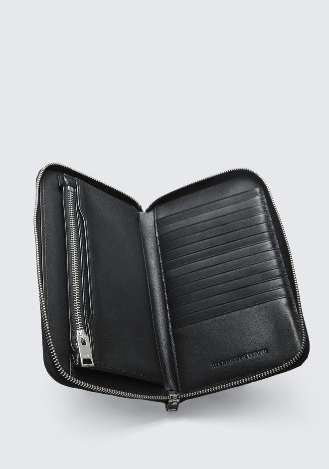 ALEXANDER WANG DIME CONTINENTAL WALLET IN BLACK SMALL LEATHER GOOD Adult 12_n_r