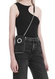 ALEXANDER WANG RIOT SHOULDER WALLET IN MATTE BLACK WITH RHODIUM  SMALL LEATHER GOOD Adult 8_n_r
