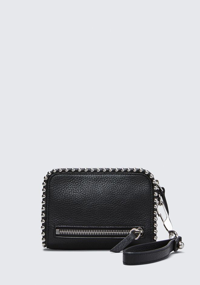 ALEXANDER WANG LARGE FUMO WALLET IN PEBBLED BLACK WITH BALL STUDS SMALL LEATHER GOOD Adult 12_n_e