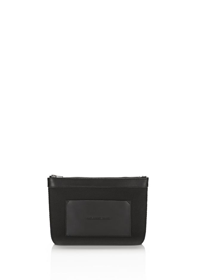 ALEXANDER WANG SMALL LEATHER GOODS Women SMALL BLACK CANVAS POUCH