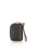 ALEXANDER WANG LARGE FUMO WALLET IN PEBBLED BLACK WITH ROSE GOLD SMALL LEATHER GOOD Adult 8_n_a