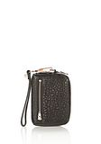 ALEXANDER WANG LARGE FUMO WALLET IN PEBBLED BLACK WITH ROSE GOLD SMALL LEATHER GOOD Adult 8_n_f