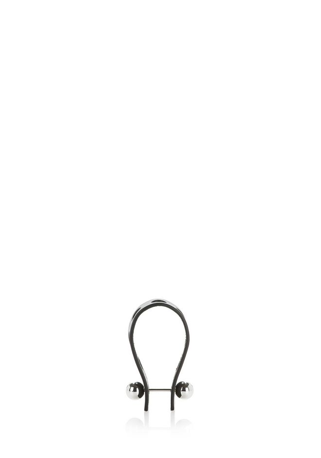 ALEXANDER WANG PUNCHED KEYCHAIN IN BLACK VACHETTA  SMALL LEATHER GOOD Adult 12_n_d