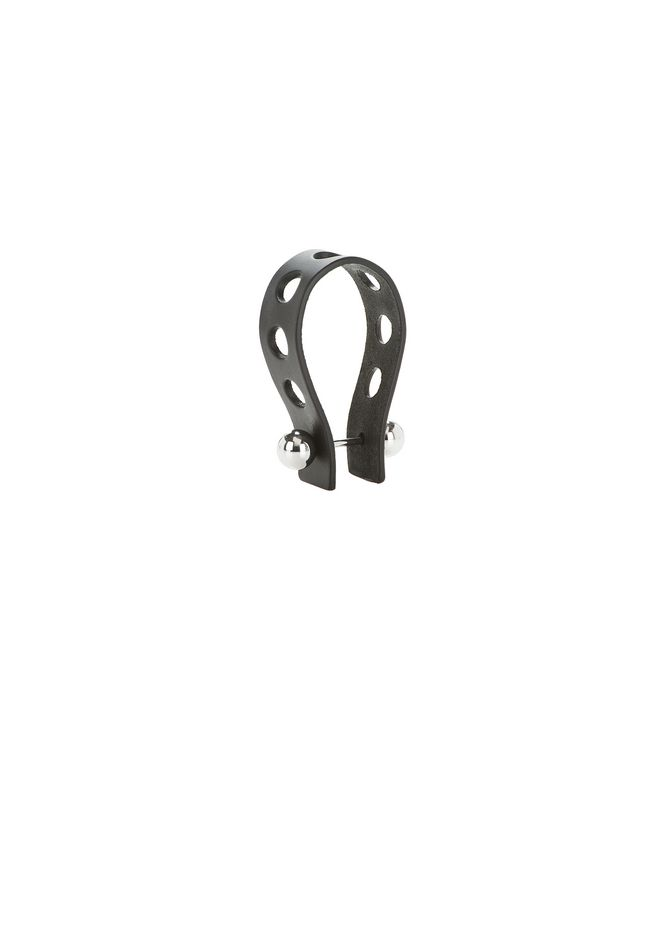 ALEXANDER WANG PUNCHED KEYCHAIN IN BLACK VACHETTA  SMALL LEATHER GOOD Adult 12_n_f