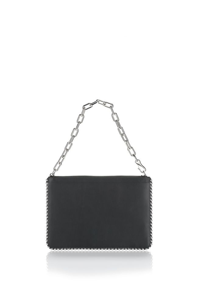 ALEXANDER WANG SMALL LEATHER GOODS Women STUDDED ATTICA CHAIN LARGE POUCH