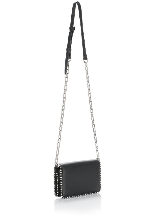 ALEXANDER WANG BALL STUD ATTICA BIKER PURSE SMALL LEATHER GOOD Adult 12_n_e