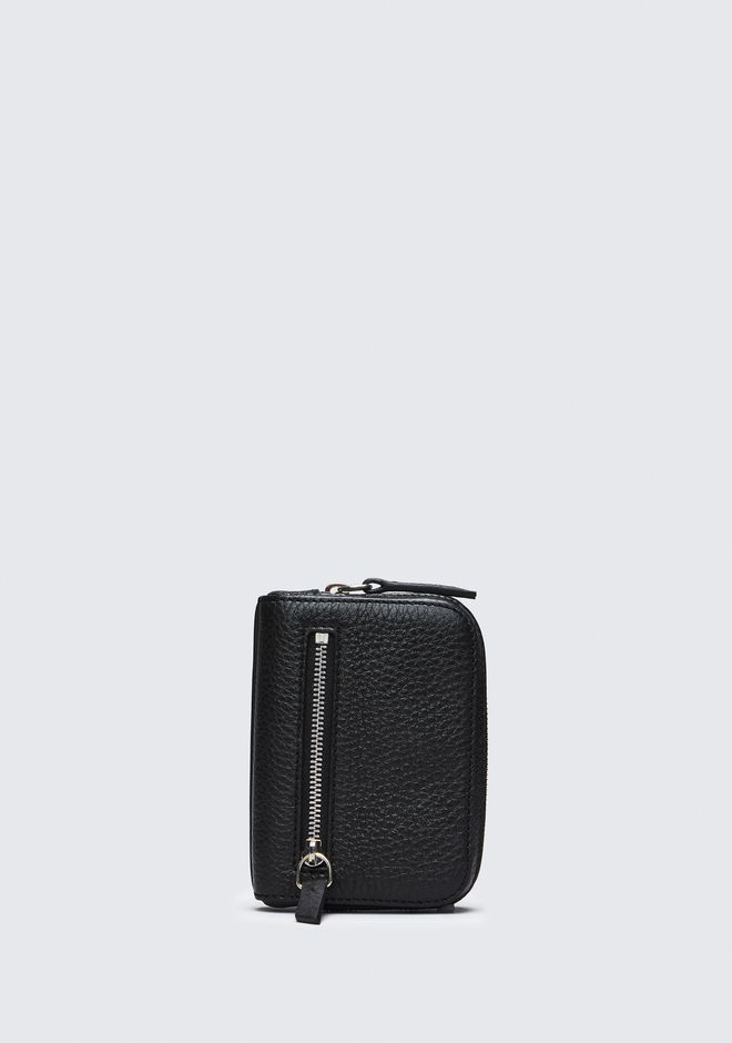 ALEXANDER WANG accessoires-classics FUMO MINI ZIP AROUND WALLET IN PEBBLED BLACK