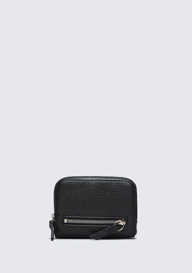 ALEXANDER WANG FUMO MINI ZIP AROUND WALLET IN PEBBLED BLACK  钱夹 Adult 12_n_d