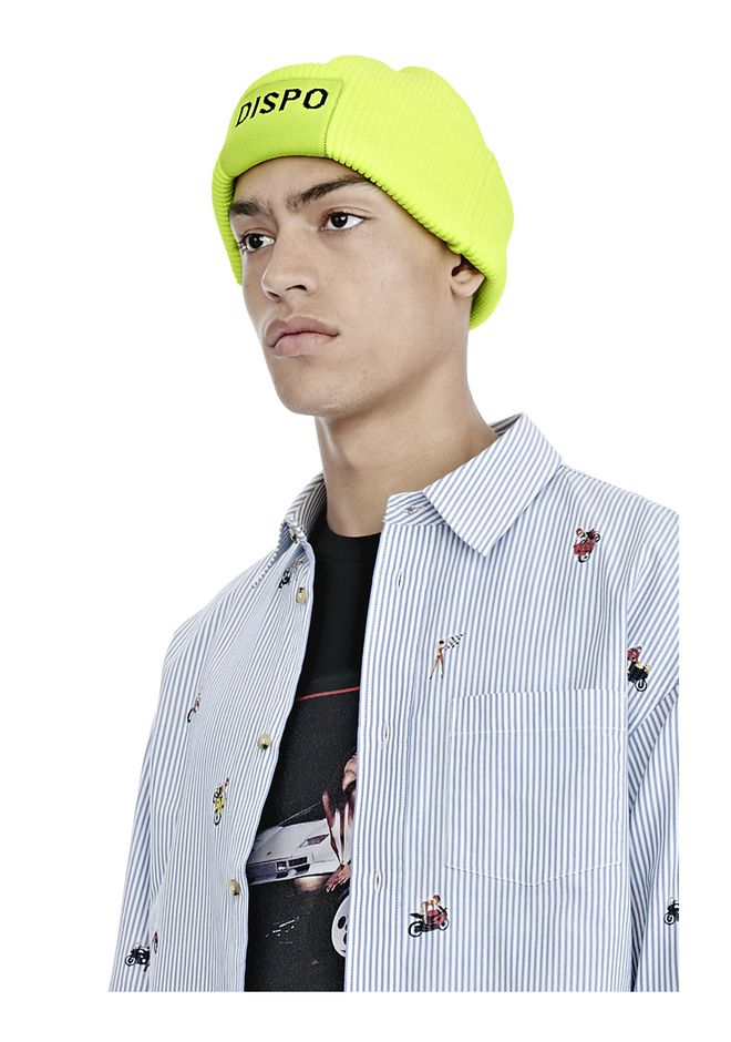 "ALEXANDER WANG FISHERMAN'S BEANIE WITH ""DISPO"" PATCH Scarf & Hat Adult 12_n_d"
