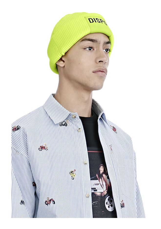 "ALEXANDER WANG FISHERMAN'S BEANIE WITH ""DISPO"" PATCH Scarf & Hat Adult 12_n_e"