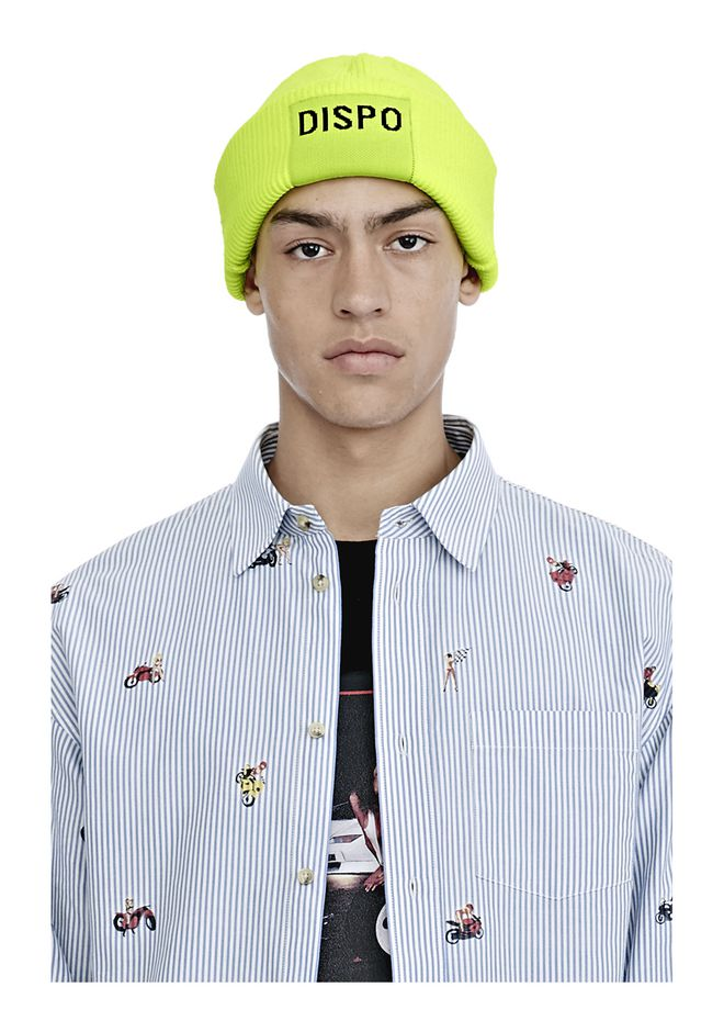 "ALEXANDER WANG FISHERMAN'S BEANIE WITH ""DISPO"" PATCH Scarf & Hat Adult 12_n_r"