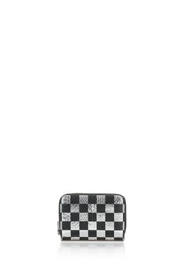 DIME COMPACT WALLET WITH IN CHECKERBOARD ELAPHE