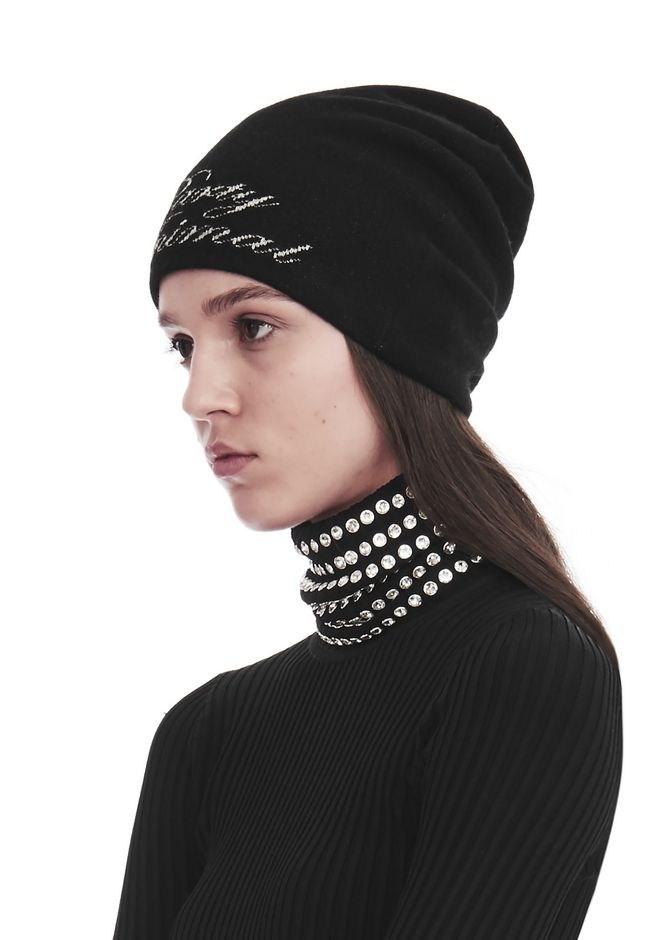 ALEXANDER WANG 'PARTY ANIMAL' BEANIE Scarf & Hat Adult 12_n_d
