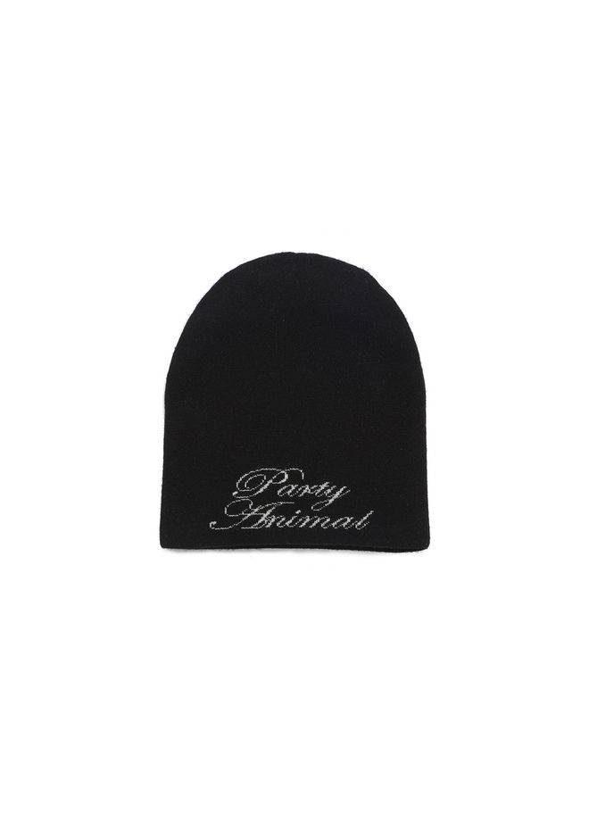 ALEXANDER WANG 'PARTY ANIMAL' BEANIE Scarf & Hat Adult 12_n_f