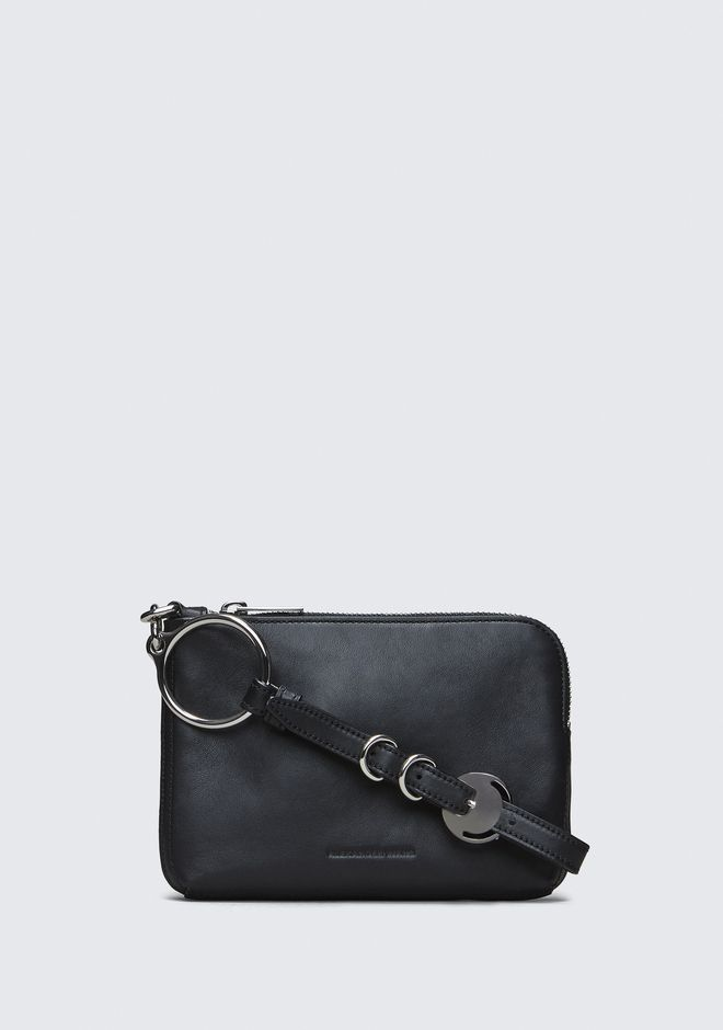ALEXANDER WANG SMALL LEATHER GOODS BLACK ACE SMALL WRISTLET