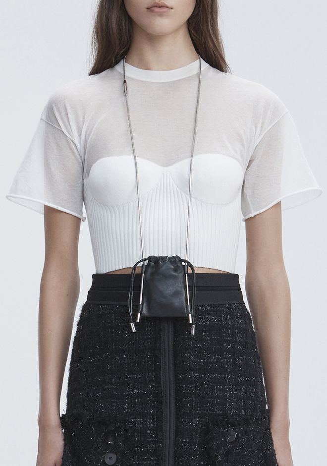 ALEXANDER WANG RYAN NECK POUCH 가죽 소품 Adult 12_n_r