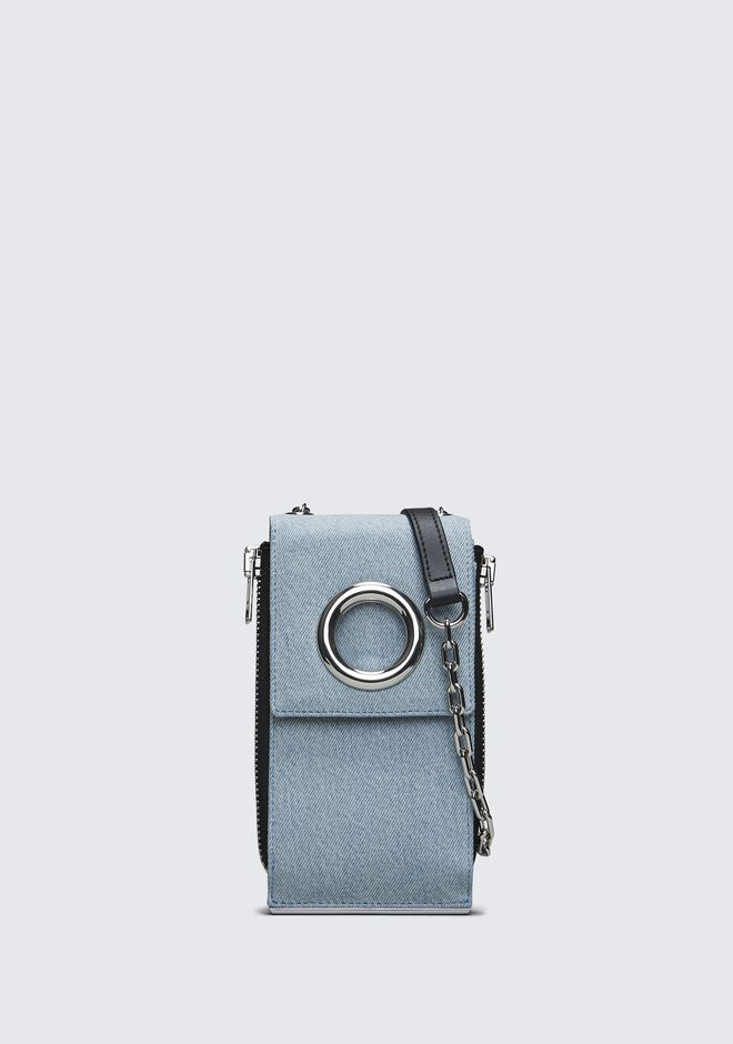 ALEXANDER WANG slccfww DENIM RIOT SHOULDER WALLET