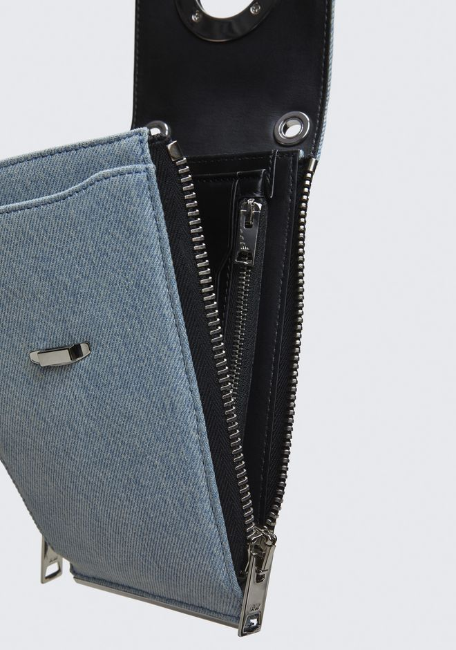 ALEXANDER WANG DENIM RIOT SHOULDER WALLET  小皮件 Adult 12_n_a