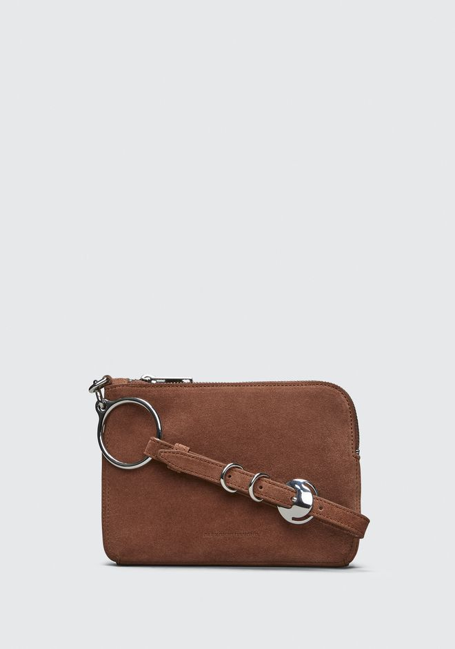 ALEXANDER WANG SMALL LEATHER GOODS TERRACOTTA ACE SMALL WRISTLET