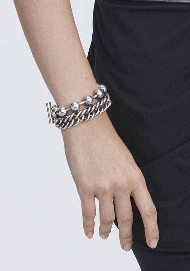 ALEXANDER WANG BALL CHAIN STACKED BRACELET Jewelry Adult 12_n_e