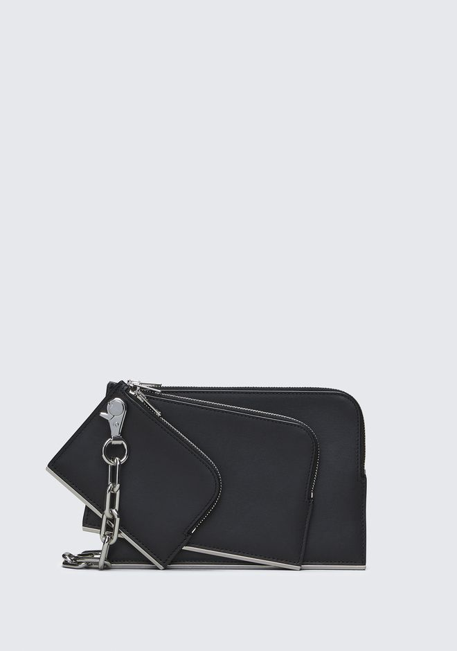 ALEXANDER WANG accessories DIME TRIPLE ZIP POUCH