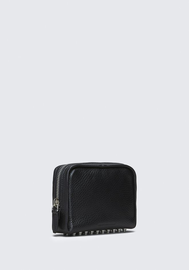 ALEXANDER WANG BLACK FUMO COSMETIC POUCH SMALL LEATHER GOOD Adult 12_n_e