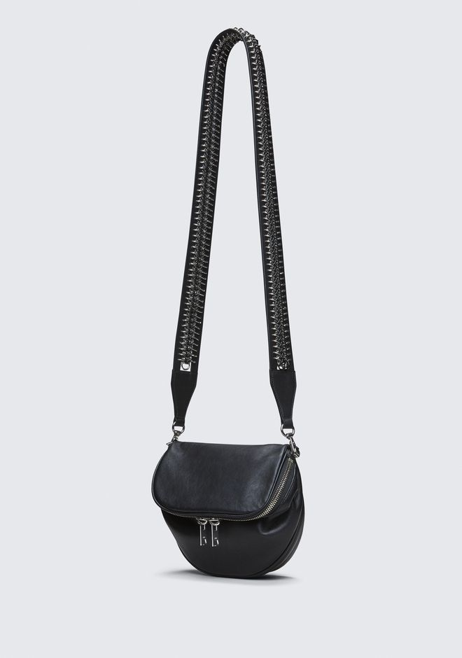 ALEXANDER WANG BOX CHAIN SHOULDER STRAP SMALL LEATHER GOOD Adult 12_n_e