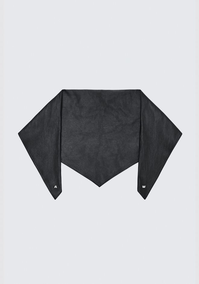 ALEXANDER WANG EXCLUSIVE LEATHER BANDANA Scarf & Hat Adult 12_n_e