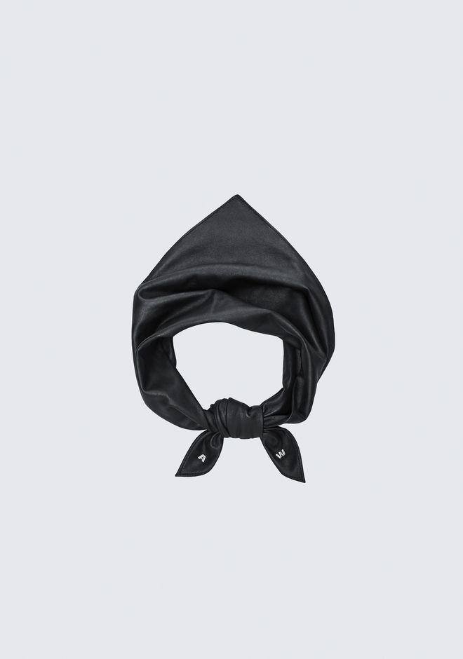 ALEXANDER WANG EXCLUSIVE LEATHER BANDANA Scarf & Hat Adult 12_n_f