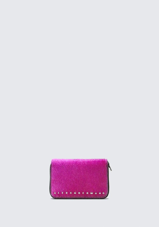 ALEXANDER WANG SMALL LEATHER GOODS Women FUSHSIA DIME COMPACT WALLET