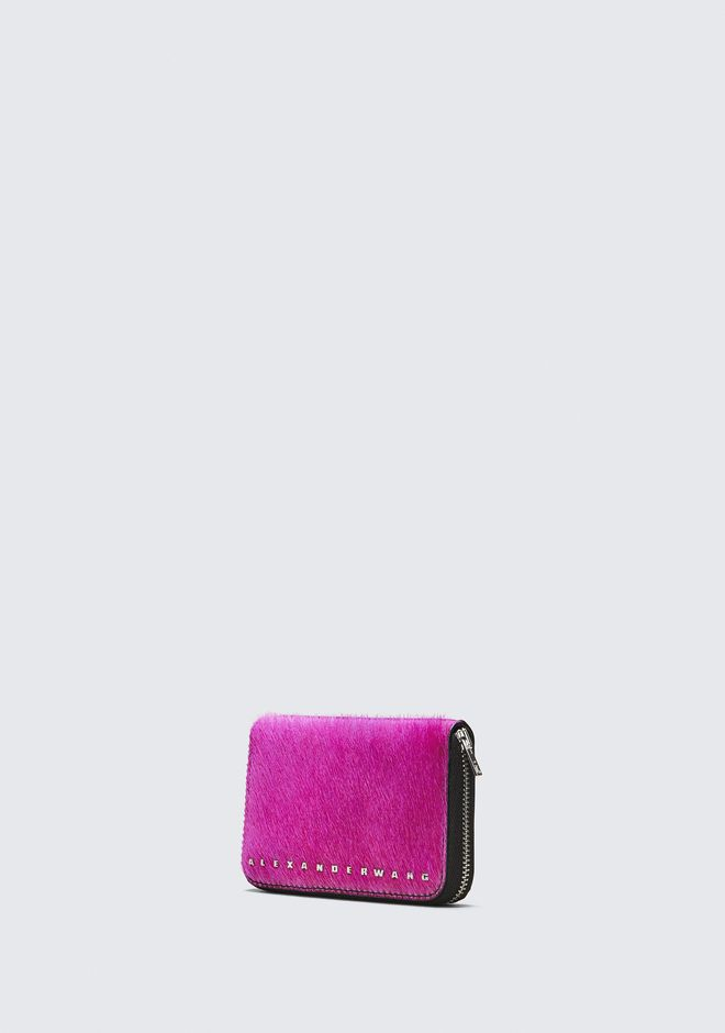 ALEXANDER WANG FUSHSIA DIME COMPACT WALLET SMALL LEATHER GOOD Adult 12_n_a