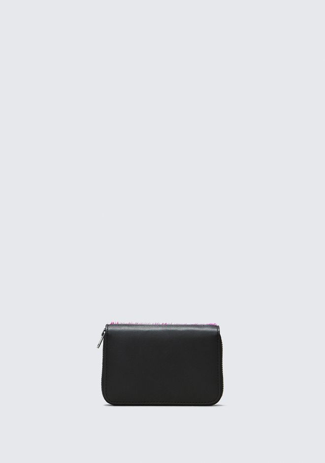 ALEXANDER WANG FUSHSIA DIME COMPACT WALLET SMALL LEATHER GOOD Adult 12_n_d