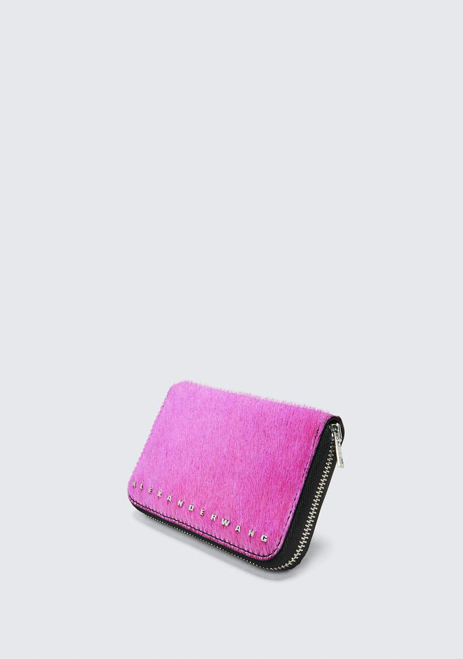 ALEXANDER WANG FUSHSIA DIME COMPACT WALLET SMALL LEATHER GOOD Adult 12_n_e