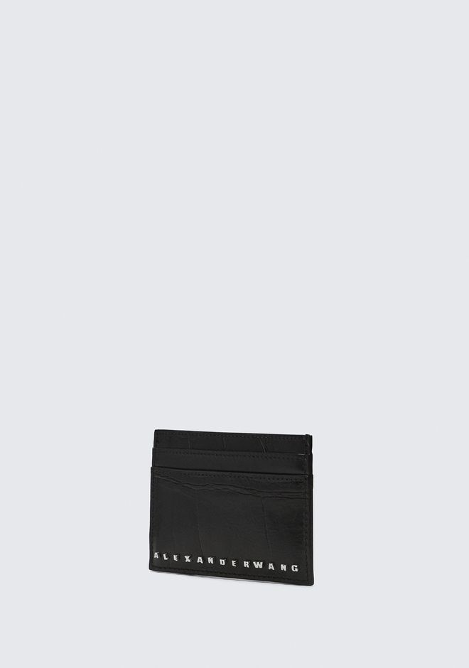 ALEXANDER WANG BLACK DIME CARD CASE SMALL LEATHER GOOD Adult 12_n_a