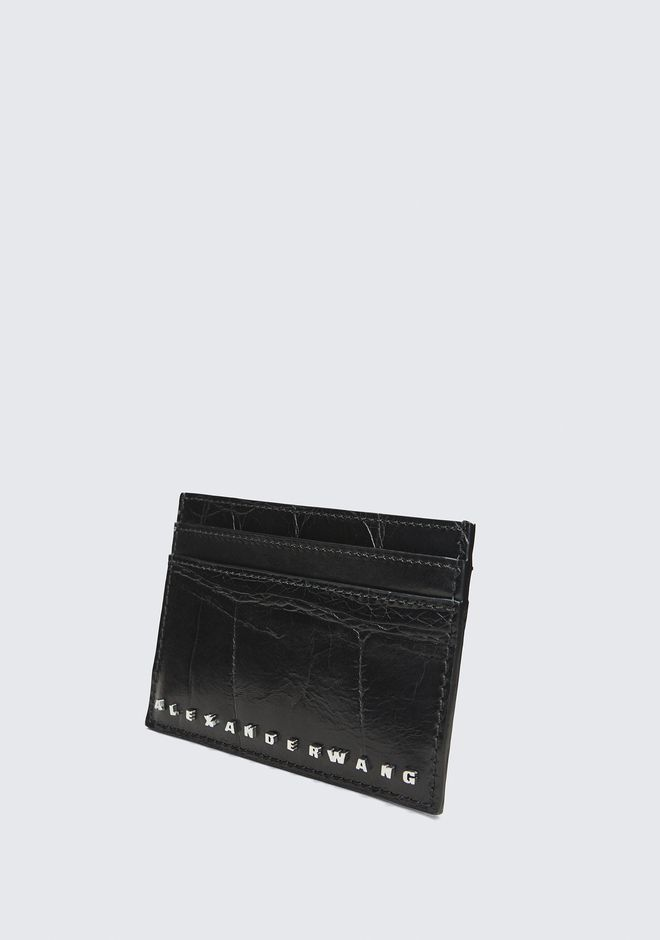 ALEXANDER WANG BLACK DIME CARD CASE SMALL LEATHER GOOD Adult 12_n_e