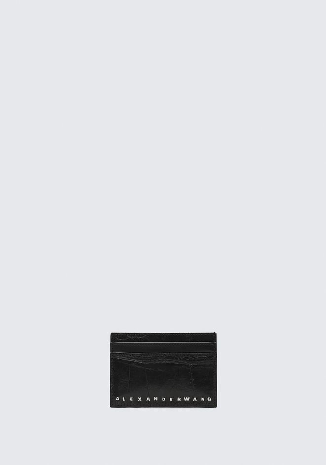 ALEXANDER WANG BLACK DIME CARD CASE SMALL LEATHER GOOD Adult 12_n_f