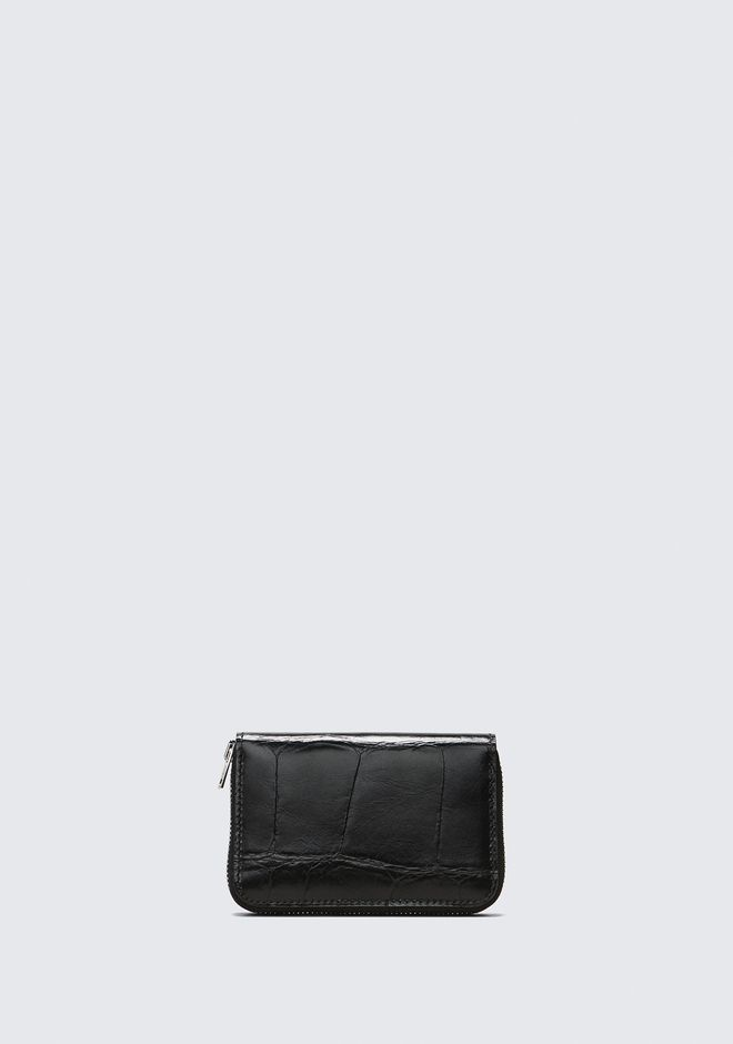ALEXANDER WANG BLACK DIME COMPACT WALLET SMALL LEATHER GOOD Adult 12_n_d